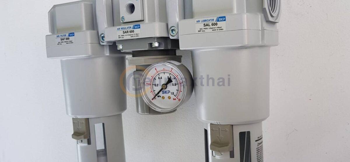 ชุดใหญ่ FRL แบบ 3 Unit Auto drain ขนาด 1″ SAU600-10BDG SKP