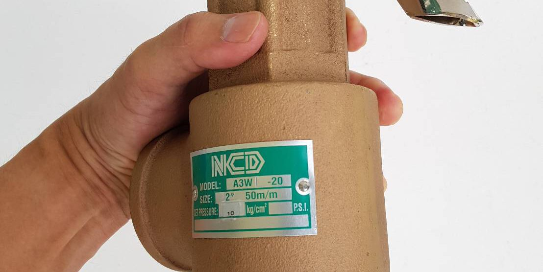 ตัวอย่างใหญ่ A3WL-02 Safety valve 2″ แบบมีด้ามทดสอบ Blow