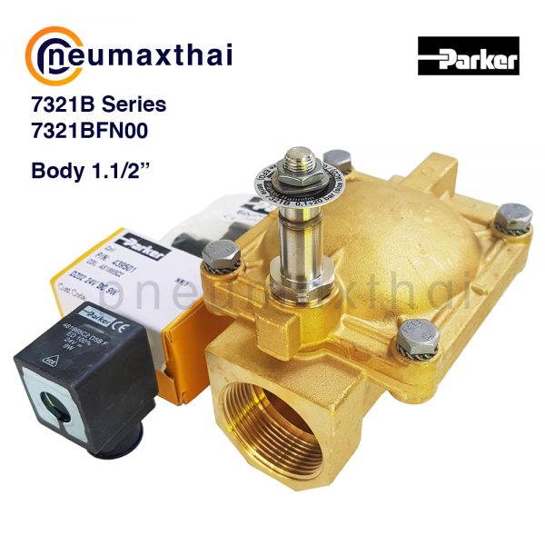 Parker 2/2 – NC 7321B,VE131,VE146,VE168 โซลินอยด์วาล์ว 2/2 ทาง NC – Body ทองเหลือง (Normally closed)