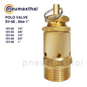 POLO Valve (โปโลวาล์ว/Relief valve) – Model SV Series