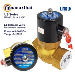 UNI-D ซี่รี่ส์ UD-US โซลินอยด์วาล์ว 2/2 สำหรับ High temperatures (Type:NC)