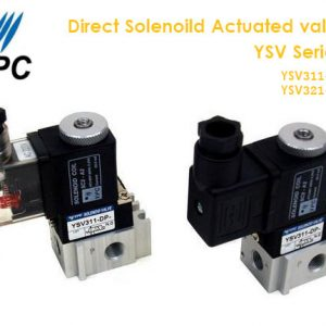 YPC Direct Solenoid Actuated valve – 3/2 YSV Series